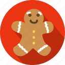 baked, celebration, christmas, food, ginger, gingerbread, pastry icon