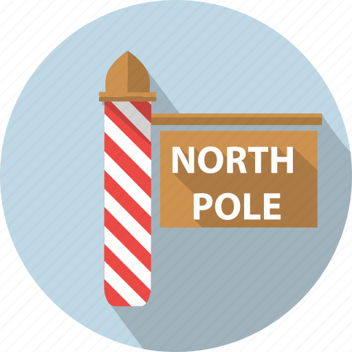 board, direction, holiday, north, pole, winter icon