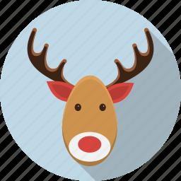 christmas, deer, horn, moose, reindeer, x-mas, xmas icon