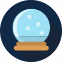 ball, blizzard, christmas, glass, globe, snowglobe icon