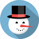 christmas, december, man, snow, snowman, winter, xmas icon
