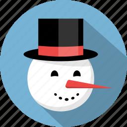 christmas, december, man, snow, snowman, winter, xmas icon
