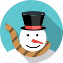 carrot, christmas, man, snow, snowman, winter, xmas icon
