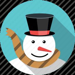 carrot, christmas, man, snow, snowman, winter, xmas icon