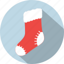 christmas, decoration, present, santa, sock, socks, xmas icon