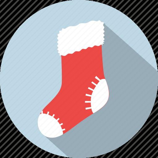 christmas, decoration, present, santa, sock, socks, xmas icon