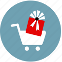 bonus, buy, cart, gift, purchase, reward, sale icon