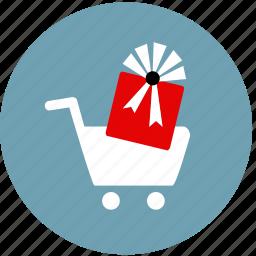 bonus, buy, cart, gift, purchase, reward, sale icon