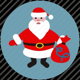 celebration, christmas, gift, happy, new year, santa, santa claus icon