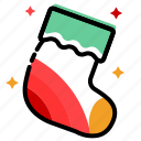 christmas, clothes, new year, socks, stockings, winter, xmas icon