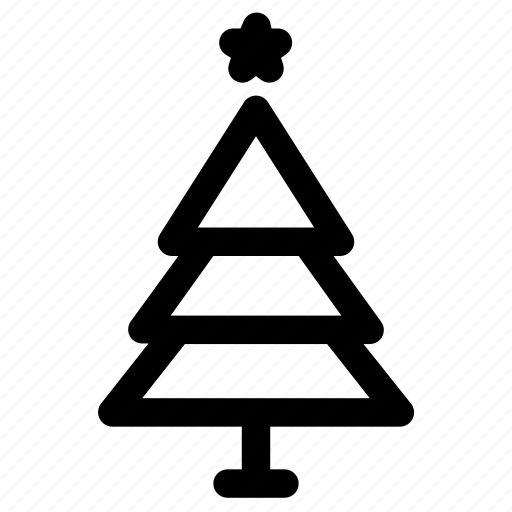Christmas, spruce, star, tree, winter icon - Download on Iconfinder