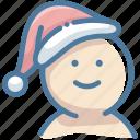 christmas, christmas hat, santa claus, santa hat