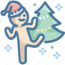 christmas, christmas hat, christmas tree, happy, santa hat icon