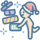 boxs, christmas, gift boxs, merry christmas, santa claus, santa hat, thanksgiving icon