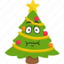 christmas, emoji, emoticon, smiley, tree, winter icon