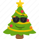 emoticon, winter, smiley, tree, christmas, emoji