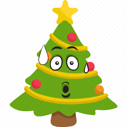 Christmas Tree Emoji.Christmas Tree Emoji By Vector Toons