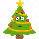 christmas, emoji, emoticon, smiley, tree, winter