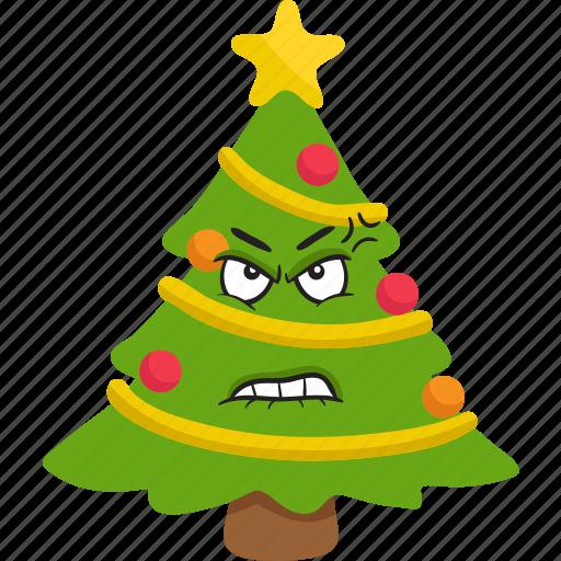 christmas, emoji, emoticon, smiley, tree, winter icon