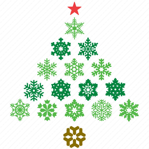abstract, christmas, decor, decoration, snow, snowflake, tree icon