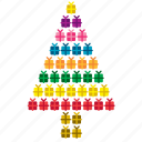 abstract, christmas, concept, decoration, gift, present, tree