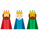 christmas, kings, magi, men, three, wise, xmas icon