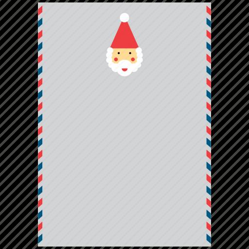 christmas, claus, father, letter, santa, santas, xmas icon