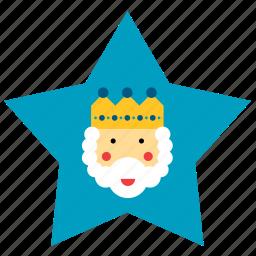 christmas, kings, magi, men, star, three, wise icon