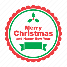 christmas, decoration, greeting, happy new year, merry, ornament, xmas icon