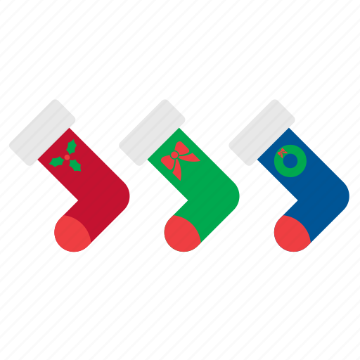 christmas, decor, decoration, ornament, sock, socks, xmas icon