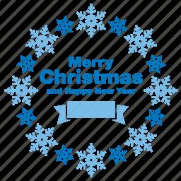 christmas, greeting, happy new year, merry, snow, snowflake, xmas icon