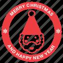 christmas, claus, greeting, happy new year, merry, santa, xmas icon