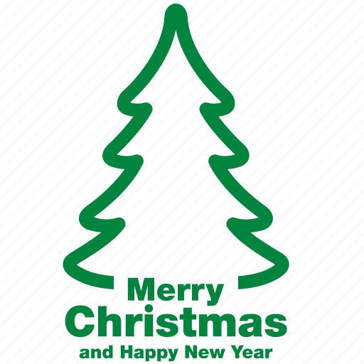christmas, fir, greeting, happy new year, merry, tree, xmas icon