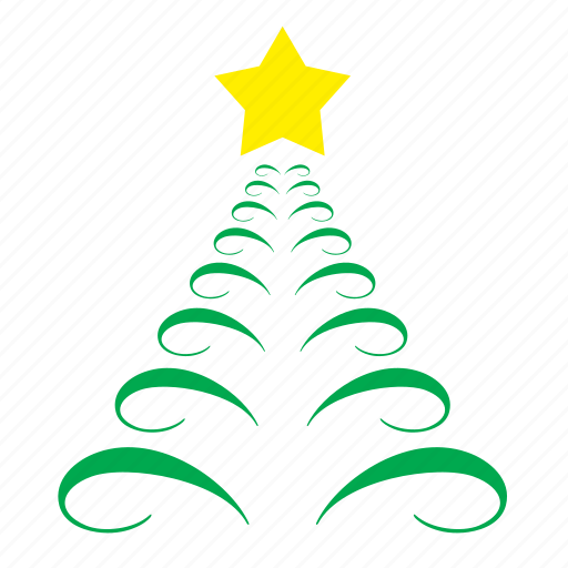 christam, decoration, fir, ornament, star, tree icon