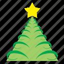 christam, decoration, fir, ornament, star, tree