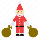 christmas, claus, father, sack, santa, santas, xmas icon