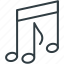 note, music note, eighth note, quaver icon