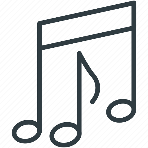 eighth note, music note, note, quaver icon