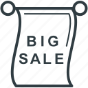 big sale, grand sale, sale advertisement, sale notice, sale offer icon