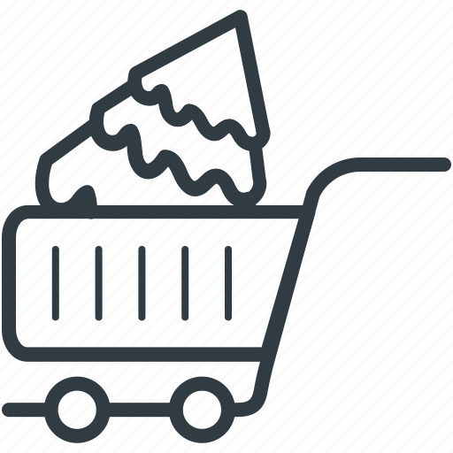 christmas shopping, christmas tree, shopping cart, tree, tree shopping icon