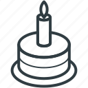 birthday cake, cake, cake with candle, celebration, christmas cake icon
