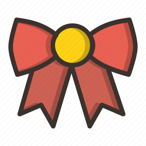 bow, christmas, clothing, dress, gift, holiday, new year icon