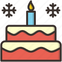 cake, candle, celebrate, christmas, new, xmas, year icon