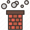 chimney, christmas, claus, gift, santa, smoke icon