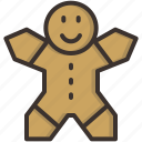 bake, cake, celebration, christmas, cookie, gingerbread, man icon