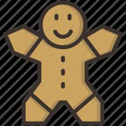 bake, cake, celebration, christmas, cookie, gingerbread, man icon
