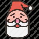 beard, cap, christmas, claus, gift, present, santa icon