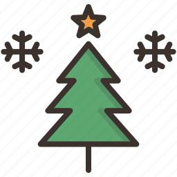 celebration, christmas, decoration, new year, star, tree, winter icon