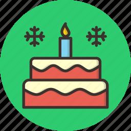 cake, candle, celebrate, celebration, christmas, new year icon