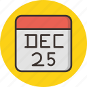 calendar, celebration, christmas, date, december, festival, holiday icon